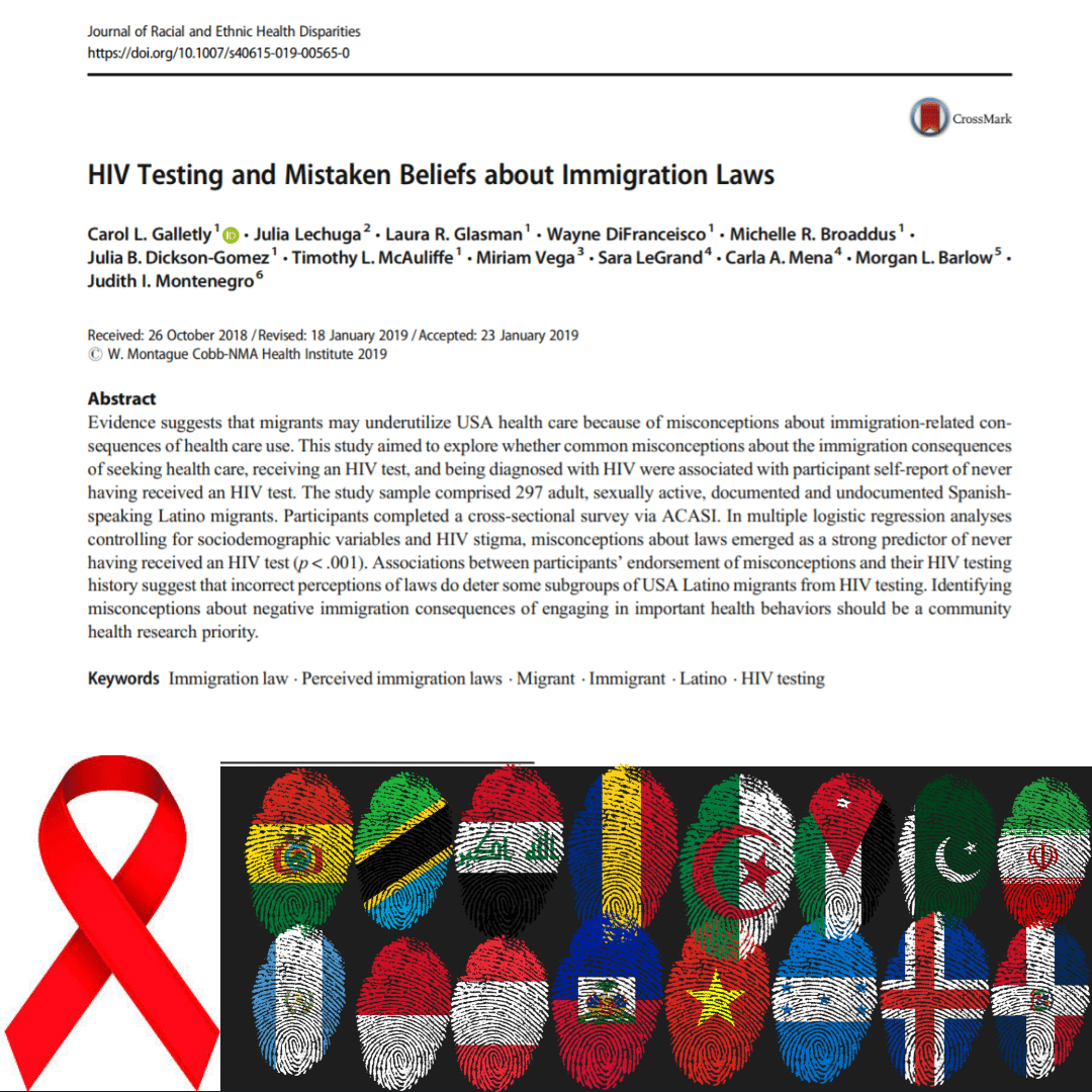 NEW ARTICLE ALERT: HIV Testing and Mistaken Beliefs about Immigration Beliefs